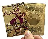 Mewtwo GX Full Art Gold Metal Custom Pokémon Card - TCG CCG (Replica)