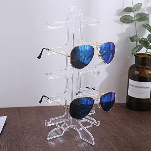 Soporte de Exhibición de Gafas Exhibición de los vidrios de soporte multifuncional de joyas destacan las gafas de sol soporte caballete lateral entre el soporte de exhibición ( Color : Transparent )