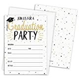 Graduation Party Invitations - 25 Cards with Envelopes