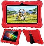 AKNICI 7 Inch Kids Tablet Cases Shockproof Silicone Cover for Dragon Touch Y88X Plus Y88X Pro/Haehne/YUNTAB Q88/ZONKO/Tagital T7K/Contixo/iRULU X37/Pritom/Veidoo/LAMZIEN/Dasuy/CARRVAS Kids Tablet, Red