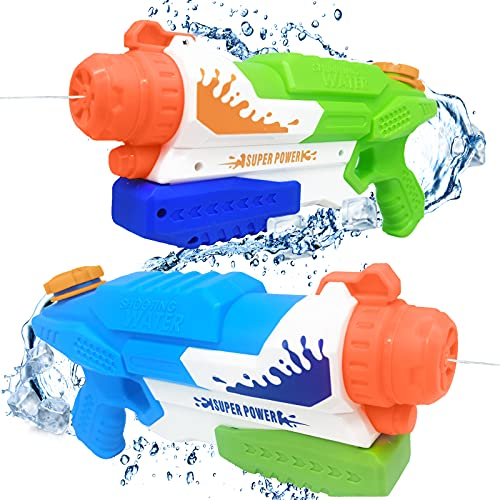 Water Gun for Kids & Adults - 2 Pack 550CC High Capacity Super Water Soaker Blaster Squirt Guns for Boys & Girls, Long Range Shooting, Summer Swimming Pool Party Favors, Outdoor Water Fighting Toys