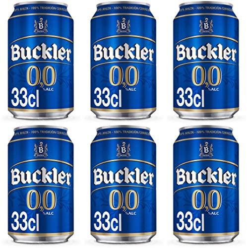 BUCKLER Lager 0.0% Alkoholfrei Bier. Dosen 330 ml. Buckler beer. biere der welt, bier set, geschenke für männer (24 Dosen, 0.33 l)