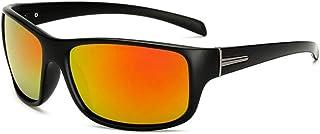SGJFZD Mens Outdoor Riding Glasses Sports Polarized Sunglasses Windshield PC UV400 Sunglasses (Color : Orange)