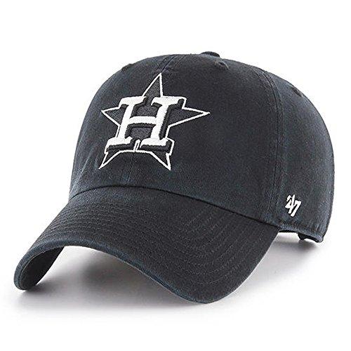 '47 Brand Houston Astros Clean up Dad Hat Cap Black/White