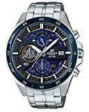 Casio EDIFICE Reloj en caja sólida, 10 BAR, Azul/Negro, para Hombre, con Correa de Acero inoxidable, EFR-556DB-2AVUEF
