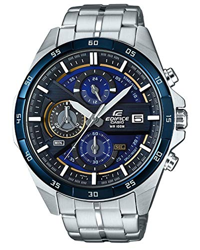 Casio Edifice Herren Massives Edelstahlgehäuse und Edelstahlarmband Uhrenarmband EFR-556DB-2AVUEF