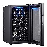 YUN Vinoteca,Nevera con Puerta Acristalada Panel Táctil Y Pantalla LED Nevera Vinos para Bebidas Enlatadas Refrescos Cerveza O Vino(Capacidad: 12/18 Botellas)
