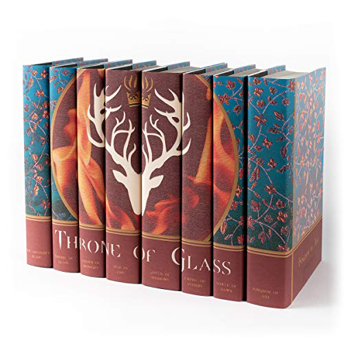 Juniper Books Throne of Glass | Eight - Volume Hardcover Book Set with Custom Designed Dust Jackets | Author Sarah J. Mass