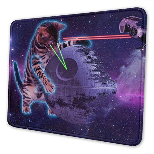 Funny Cat Mouse Pad Cute Gaming Mousepad with Non-Slip Rubber for Computers Laptop Wireless Mouse Office Decor Cat Lovers Gifts