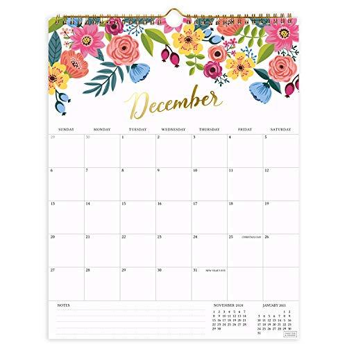 Vertical Floral Wall Calendar