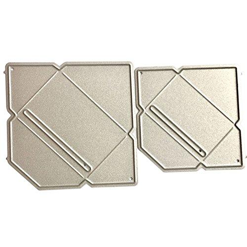 periwinkLuQ - Sobres de acero al carbono para manualidades, diseño de troquelado, color plateado