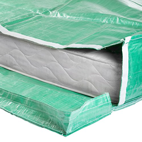 Protective Mattress Bags with Handles - Moving and Storage - Reusable (Single Size)