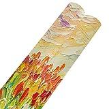 Tulipanes de pintura al óleo sobre un hermoso papel de regalo de Navidad 58x23 pulgadas 2 rollos Hojas de papel de regalo de Navidad Papel de regalo para el día de la madre Pascua Bodas Cumpleaños o