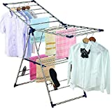 EZHOME Large Foldaway Laundry Rack, Heavy Duty, Collapsible, Space-Saving Storage, Stianless Steel, Indoor/Outdoor