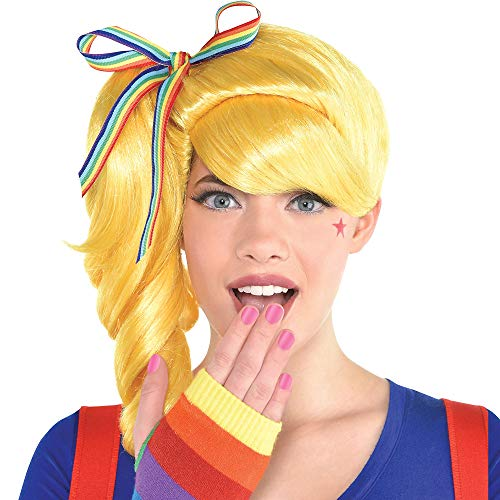 Party City Colorful Light Wig Halloween Costume Accessory for Adults, One Size