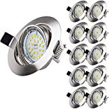 10 X Spot Encastrable LED, Wowatt Spot LED Encastrable GU10 6W...
