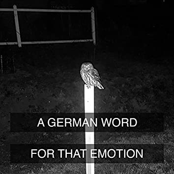 A German Word for That Emotion
