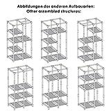 SONGMICS Stoffschrank, Kleiderschrank, 2 Kleiderstangen, 6 Ablagen, Verschiedene Aufbaumöglichkeiten, 88 x 45 x 170 cm, für Schlafzimmer, Ankleidezimmer, grau RYG84G - 3
