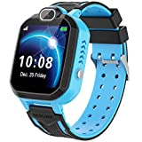 Smart Watch for Kids - Children Smart Watches Phone Two Way Call,Alarm Clock,Game,Music Player,Calculator,Camera,HD Screen Kids Smartwatch for Boys and Girls 4-12y(Blue)