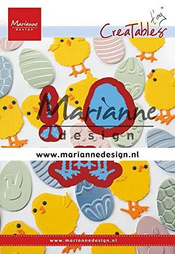 Marianne Design LR0644 Easter Chick Creatables Tiny's Osterküken, metall, hellblau, S