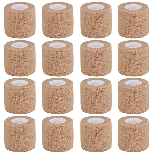 """Bandage Wrap 16 Pack 2""""x 5 Yards Self Adherent Wrap Breathable Self Adhesive Bandage Wrap Rolls Cohesive Bandage Athletic Elastic First Aid Tape for Stretch Athletic, Ankle Sprains, Swelling, Sports"""