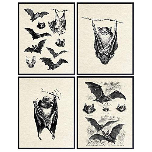 Bats Wall Decor - Bat Decorations - Bat Decor for Home - Creepy Gothic Wall Art - Goth Wall Decor - Pagan Gifts - Gothic Decor