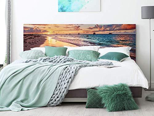 Cabecero Cama PVC Playa 200x60cm | Disponible en Varias Medidas | Cabecero Ligero, Elegante, Resistente y Económico