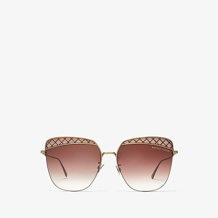 Bottega Veneta  BV0250S (Gold) Fashion Sunglasses