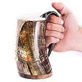 Norse Tradesman Original Viking Drinking Horn Mug - 100% Authentic Beer Horn Tankard w/Nat...