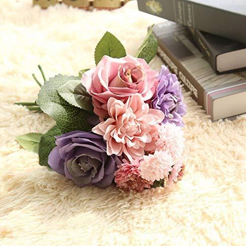 Barley33 Peonías Artificiales Flores de Seda Ramo de peonía Hogar Floral Boda Jardín Decoración Rosa