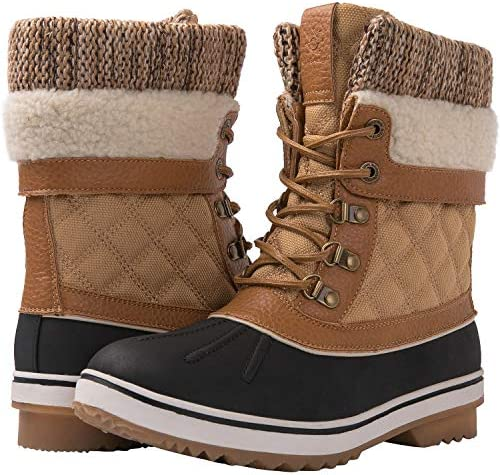 GLOBALWIN Women s Camel Winter Snow Boots 9M product image