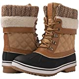 GLOBALWIN Women's Camel Winter Snow Boots 8.5M