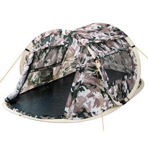 CampFeuer Wurfzelt Quiki I 2 Personen Quicktent I Campingzelt für Festival und mehr I wasserabweisend I Pop-Up Zelt (Flecktarn/Camouflage)