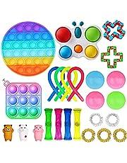 Nokiwiqis Fidget Toy Packs, Set De Juguetes Sensoriales Fidget Baratos con Simple Dimple Pop Bubble Infinite Cube Stress Ball y Anti Stress Relief Toy Stress Ball