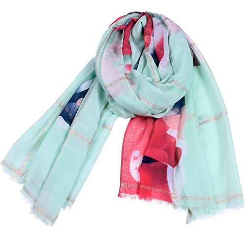 Dhmm123 Bufandas cálidas Bufandas Mujeres Imprimir Cuello Largo Bufanda Ligera Manta de Punto Bufanda (Color : Gray, Size : OneSize)