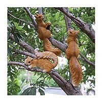 庭の装飾、屋外シミュレーション動物の小さなリス像 (Color : B)