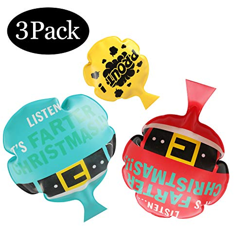 AMIGO Whoopee Cushion Set[3 Pack] Whoopie Cushions for Kids Party Favor[Safe][Non-Toxic] Funny Gag Gifts,Party Prank Cushions
