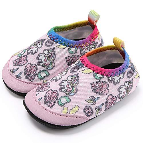 Ceyue Toddler Water Shoes Baby Girls Boys Barefoot Swim Shoes for Indoor Outdoor Pool Beach Garden Walking Unicorn 25/26