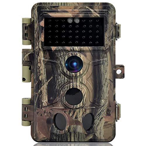DIGITNOW! Cámaras de Caza 16MP 1080P FHD Impermeable,Gran Angular de 120° y 40pcs IR LED Infrarrojo Visión Nocturna con Hasta 65FT/20m,Sendero Juego Camera, Cazar Vigilancia de la Fauna