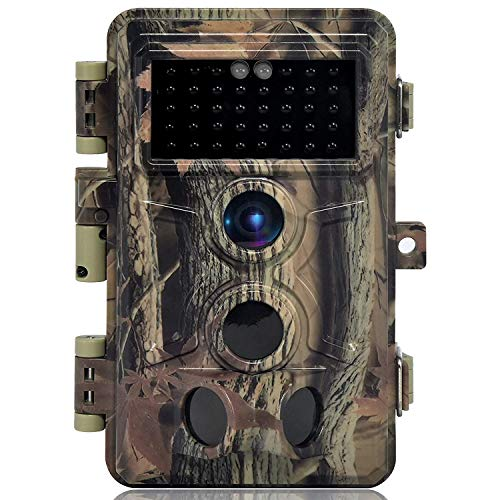 DIGITNOW! Fotocamera da Caccia 16MP 1080P HD Impermeabile, 120°Ampia visuale Fototrappola Infrarossi Invisibili 40 IR LED, Macchine fotografiche da Caccia Visione Notturna Fino a 65FT/20m