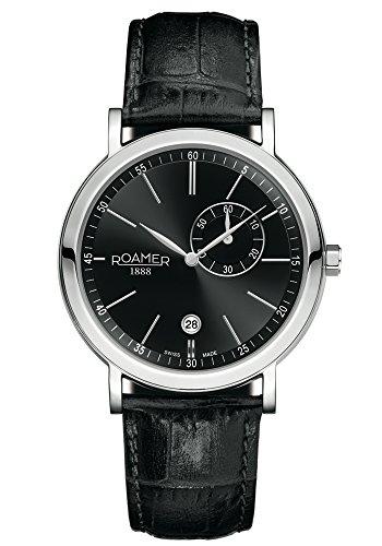 Roamer Herren-Armbanduhr Vanguard Analog Quarz Leder 934950 41 55 05