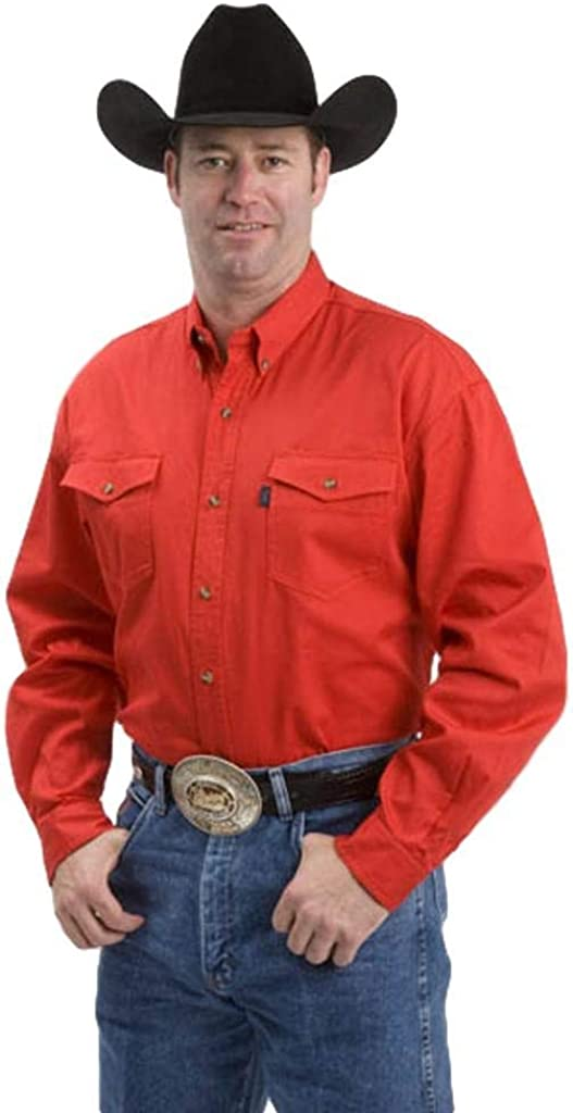 Roper Western Shirt Mens Button L/S Tall Red 06-001-0800-0160 RE