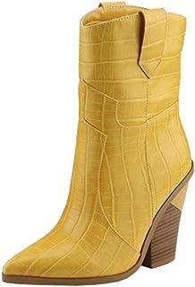 c50559b1 Amazon.es: Amarillo - Botas / Zapatos para mujer: Zapatos y complementos