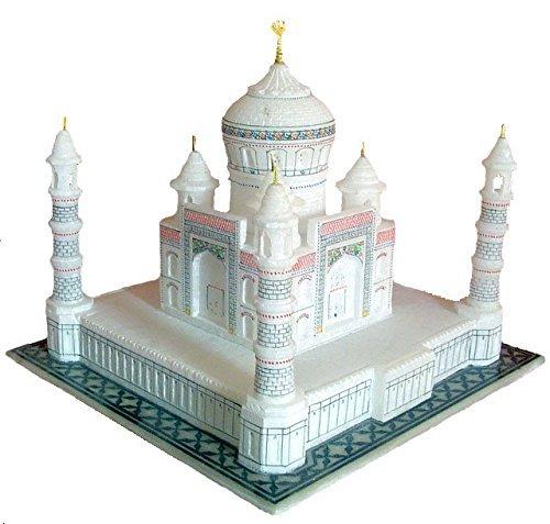 Taj Mahal Tajmahal Marble Replica Model India Agra Souvenir Collection (6 Inch x 6 Inch)