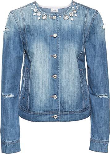 bonprix Attraktive Jacke im Used-Look medium Blue Denim 48 für Damen