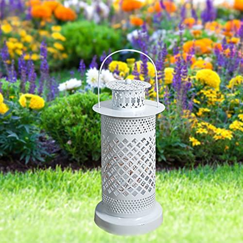 Linternas LED para colgar, luces de hierro para exteriores, funciona con pilas, para colgar en el jardín, césped, patio, paisaje, playa, decoración de jardín