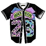 HOP FASHION Youth Unisex Boy Girl Baseball Jersey Short Sleeve 3D Colorful 23 Print Dance Team Uniform Tops Shirt HOPM007-01-S