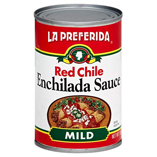 La Preferida Mexican Foods Red Chile Enchilada Sauce, Mild | Salsa de Chile Rojo para Enchiladas | 10 OZ (Pack of 3)