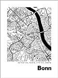 Poster 60 x 80 cm: Stadtplan von Bonn von 44spaces -