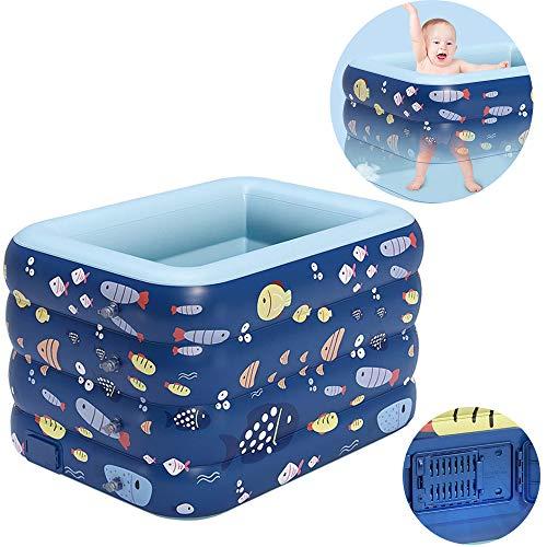 Aufblasbares Pool Der Familienpool, Inflatable Swimming Pool, Plastik Faltbar, Leicht Aufbaubar, Ein-Knopf-Inflation, Für Kinder, Jugendliche Und Erwachsene